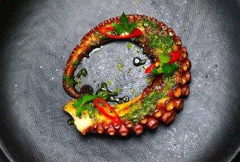 Salade de poulpe et gremolata