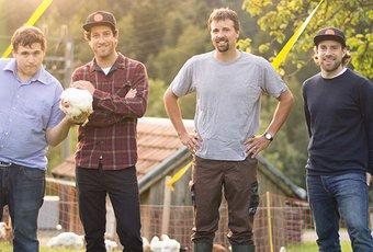 En visite chez Robin Geisser et ses poulets du canton d'Appenzell